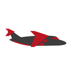 Bright flying airplane vector