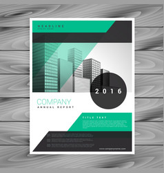 Company business flyer brochure template vector