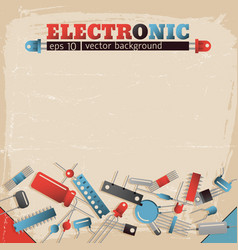 Electronic background vector