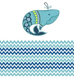 Funny whale vector image