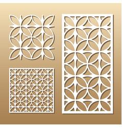 geometric laser cut vector image