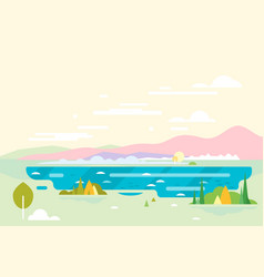 Geometric nature landscape background vector