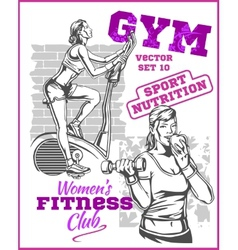 Healthy Fitness Girls vector image