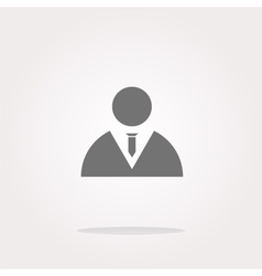 icon button with businessman inside vector image vector image
