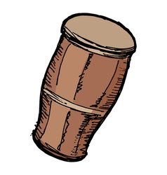 Indian drum vector image