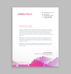 letterhead design with pink stripes vector image vector image