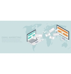 modern flat isometric email marketing vector image