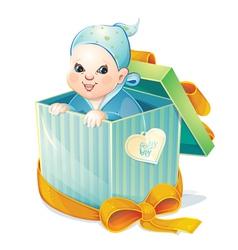 newborn boy vector image