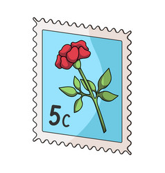 postage stampmail and postman single icon in vector image