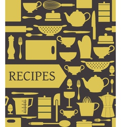 recipes card vector image vector image