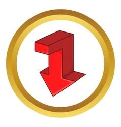 Red arrow icon vector