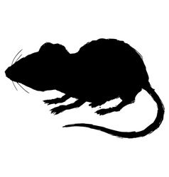 Silhouette of house mouse vector
