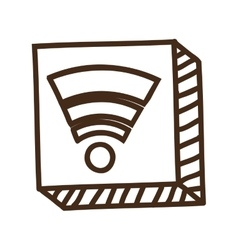 Silhouette of wifi icon vector