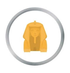 Sphinx icon in cartoon style isolated on white vector
