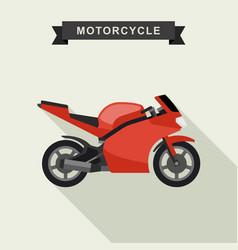Sport bike flat vector