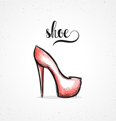 Stylish colored hipster fashion shoe handmade in vector image vector image