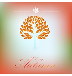 Tree autumn background vector image vector image
