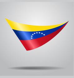 venezuelan flag background vector image