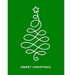 Christmas tree made from loops abstract design vector