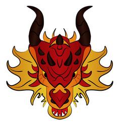 chinese dragon cartoon vector image