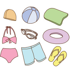 Accessories for swimming vector