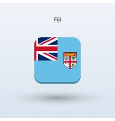 Fiji flag icon vector