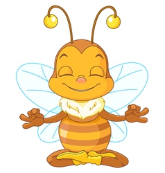 Meditating bee vector