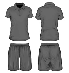 Mens polo-shirt and sport shorts vector image