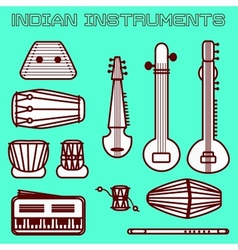Indian instruments vector