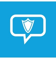 Shield message icon vector