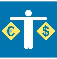 Currency compare icon from business bicolor set vector