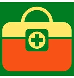 Medic case icon vector