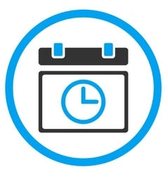 Date time rounded icon vector