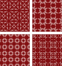 Maroon seamless pattern background set vector