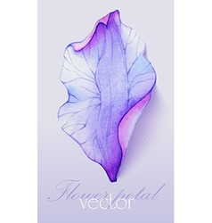 Watercolor element purple flower petal vector