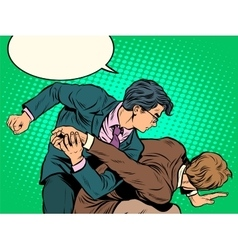 Men businessmen fighting vector