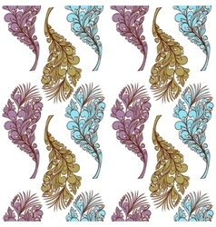 Seamless feather pattern vector