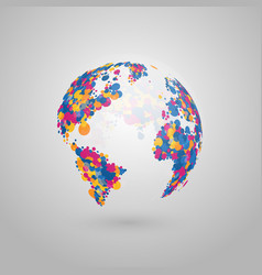 abstract globe of the earth of colorful vector image