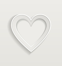 Blank picture frame in heart shape for your vector image