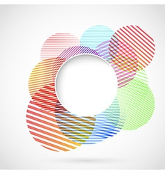 Bright retro circle design element vector image vector image