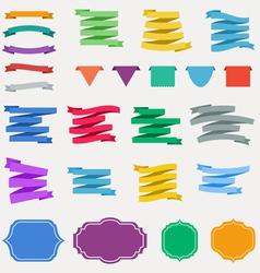 Ccolorful ribbons vector image