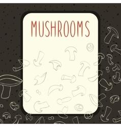 Champignone mushrooms menu design vector image