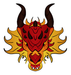 chinese dragon cartoon vector image