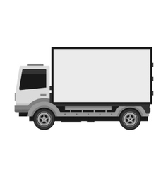 Delivery truck with blank mobile billboard vector