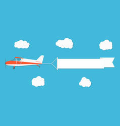 flying advertising banner plane with horizontal vector image vector image