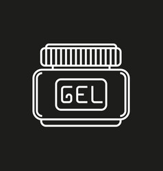Hair gel simple icon on black background vector