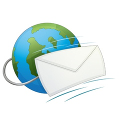 Internet email icon vector image