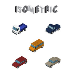 Isometric transport set of auto car suv and vector