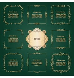 Luxury golden frames set vector