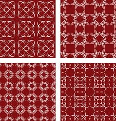 Maroon seamless pattern background set vector